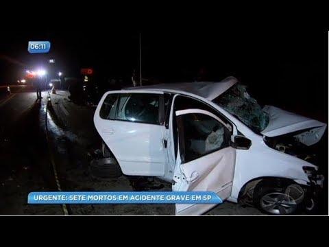 Sete pessoas morrem em acidente de carro em São Paulo