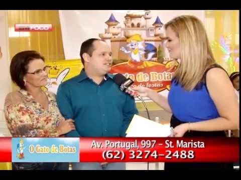 3d41f9a3e85 GATO DE BOTAS   1º MERCADO DE FESTA INFANTIL - YouTube