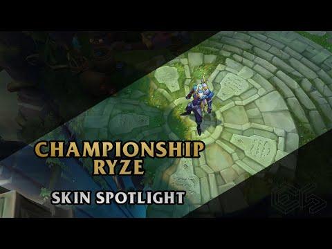 ► Championship Ryze ◀ League of Legends ▂ Skin Spotlight