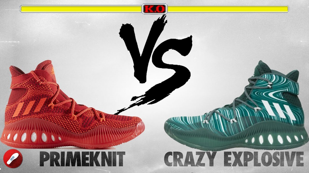 cheap for discount 010ec 8e25c Adidas Crazy Explosive Primeknit vs Crazy Explosive! - YouTu