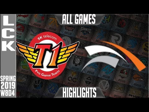 SKT vs HLE Highlights ALL Games | LCK Spring 2019 Week 8 Day 4 | SK Telecom T1 vs Hanwha Life Esport