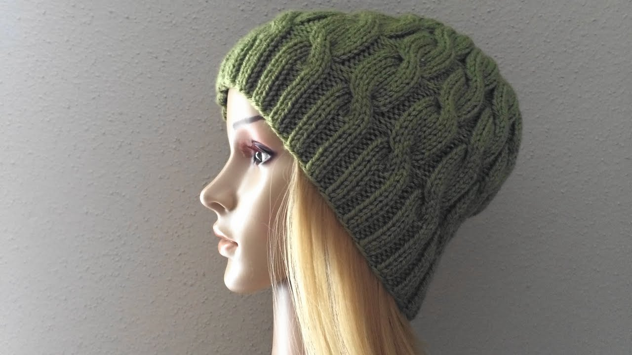 How To Knit A Cable Hat, Lilu\'s Handmade Corner Video # 6 - YouTube