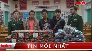 Bắt ba người Lào vận chuyển pháo nổ qua biên giới