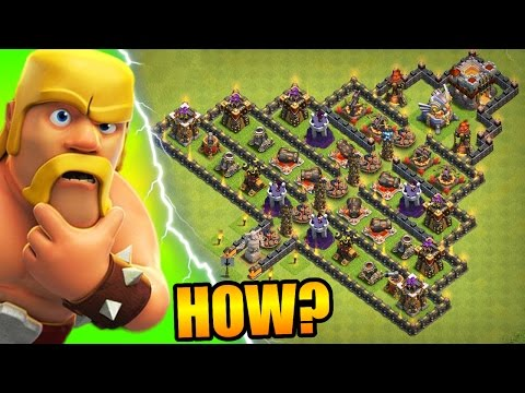 Clash Of Clans - ATTACKING MY OWN BASE!?! - ALL TROOPS vs PYRAMID TROLL BASE!