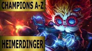 Champions A-Z #036 Heimerdinger Top Lane Guide - Full Gameplay [German] League of Legends by DPoR