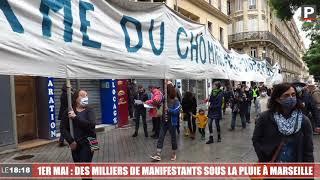 1er mai : des milliers de manifestants sous la pluie à Marseille