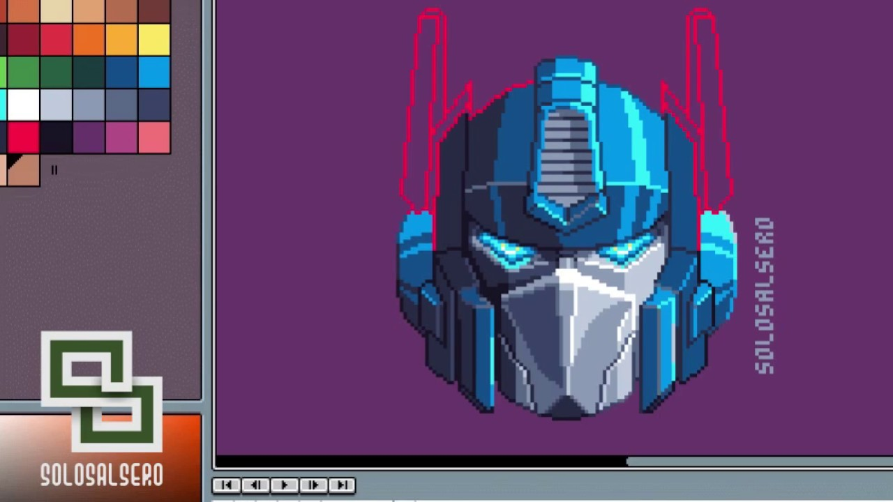 Optimus Prime From Transformers Pixel Art In Aseprite