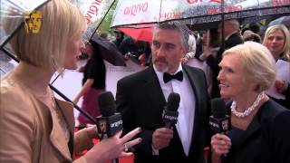 Mary Berry & Paul Hollywood - Television Awards Red Carpet in 2013