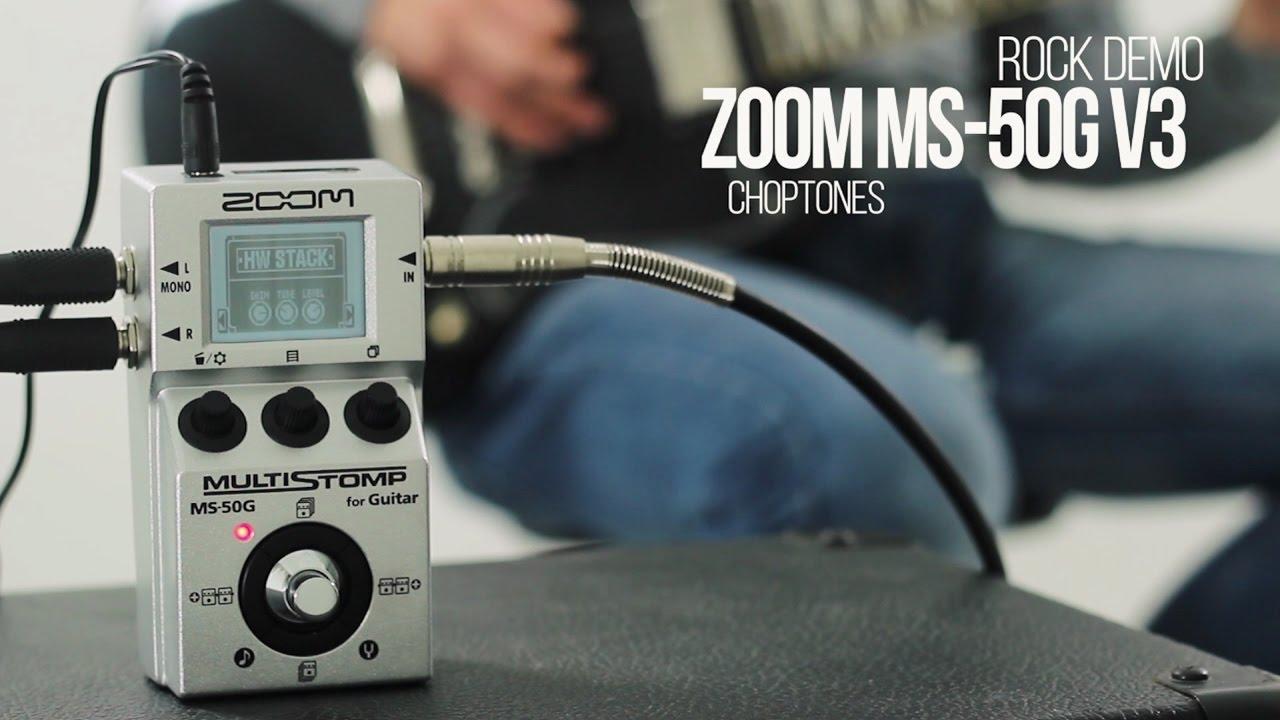 zoom ms 50g multistomp software update v3 rock demo playthrough youtube. Black Bedroom Furniture Sets. Home Design Ideas