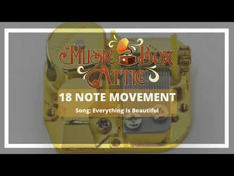 Everything Is Beautiful - Music Box Attic 18 Note Mechanical Movement