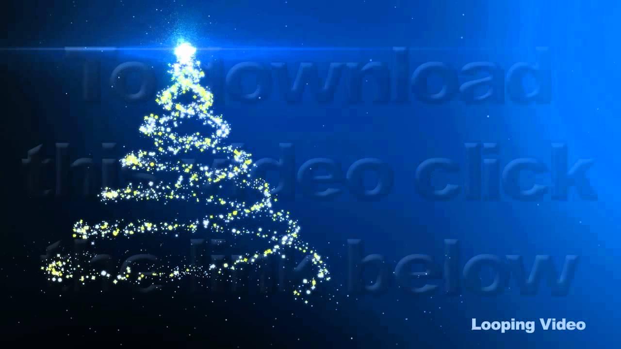 blue christmas tree backdrop series of 2 loop youtube - Blue Christmas Tree