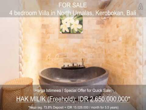 3 bedrooms freehold villa for sale in Tegal Cupek VL0595