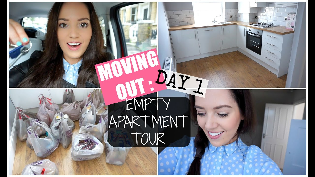 MOVING OUT  Day 1  Empty Apartment Tour  PlanetGabb   YouTube