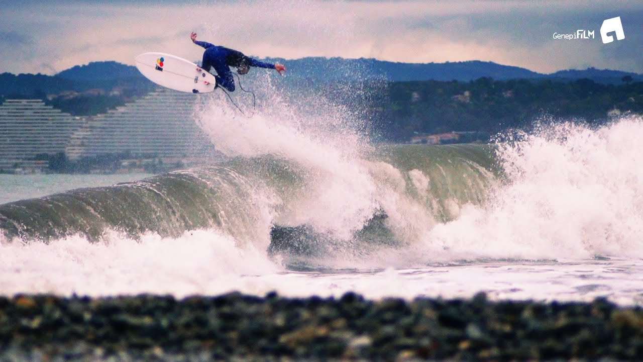 Surfing In Nice Mediterranean Sea