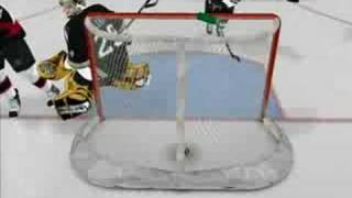 NHL 08 Goals Highlights on the PS3 - Sens Vs. Pens 4 to 8