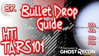 HTi Sniper + TARS101 Scope - 1Km Bullet Drop Guide - BEST SCOPE!! - Ghost Recon: Wildlands