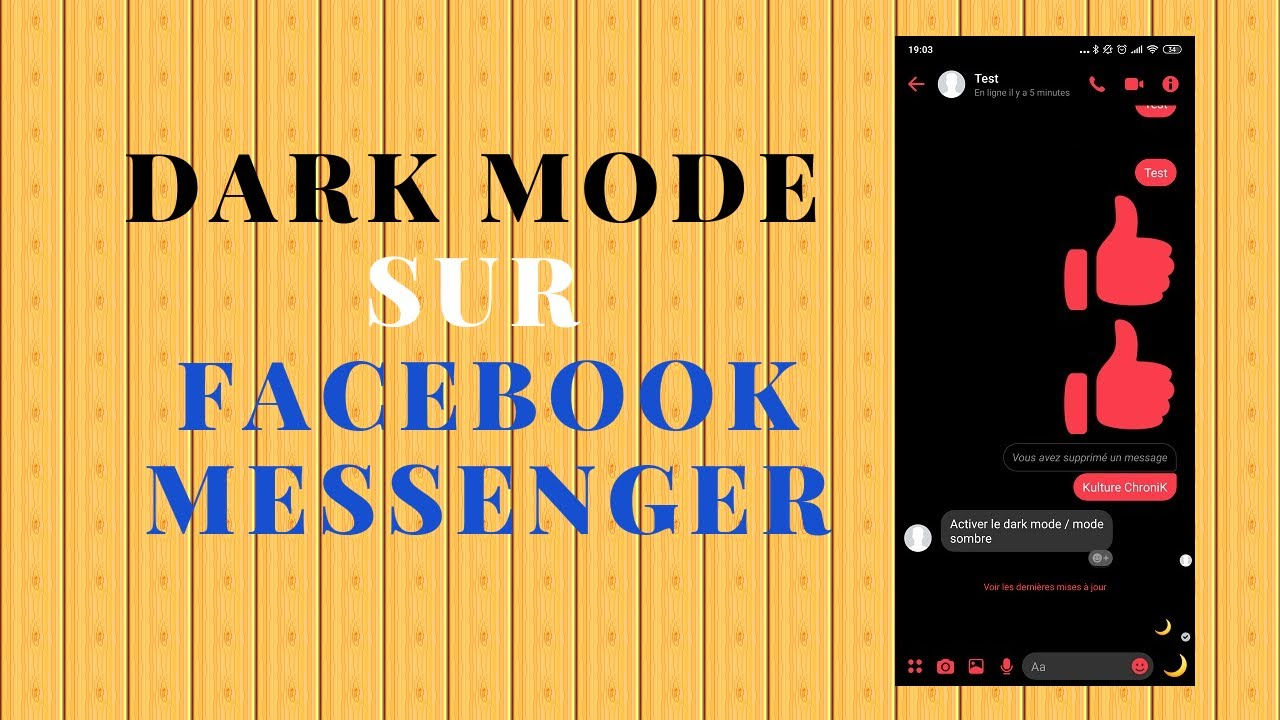 Facebook Messenger DarkMode