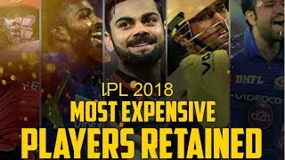 The Complete List of Retained Players of IPL 2018 ►VIRAT KOHLI is The Most Expensive Player