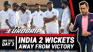 INDIA 2 wickets away from VICTORY   'TVS Eurogrip' presents #AakashVani   Cricket Analysis