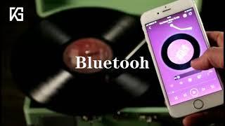 유럽식 LP 레코드 플레이어 빈티지 축음기 블루투스