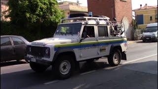Land Rover Protezione Civile Bordighera in sirena