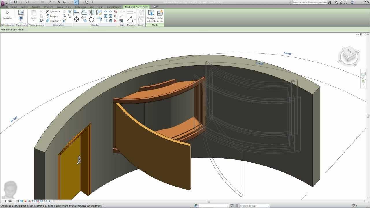 Glass folding door revit window family corner window revit sliding -  Cylindrical Door And Window Revit Family Youtube