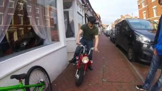 Drag Pipe on 125cc Monkey Bike