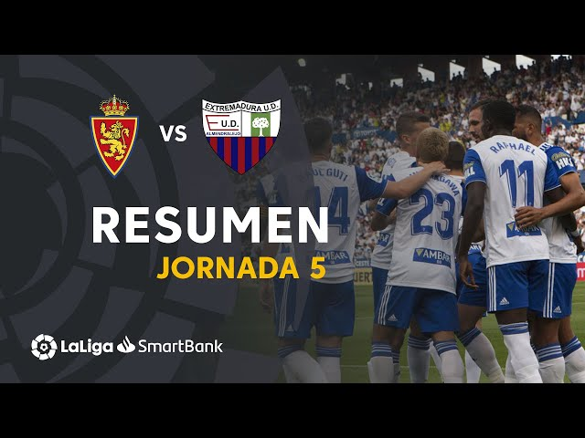 Resumen de Real Zaragoza vs Extremadura UD (3-1)