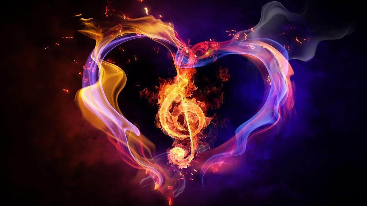 сердце огненно пламенное картинка