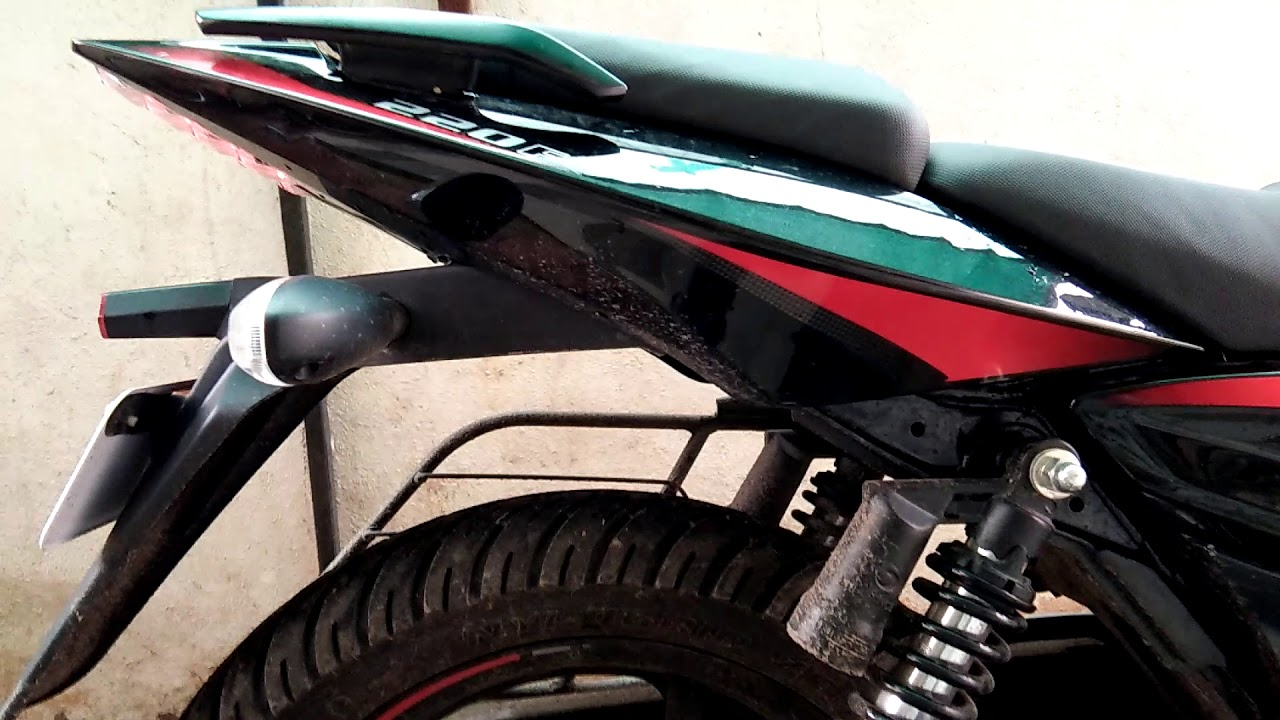New bajaj pulsar 220 f new graphics lights exhauste sound colour by ks motovlogs