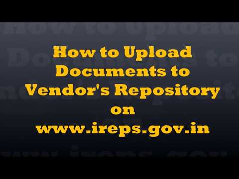 How to Upload Documents to Vendor Repository on IREPS?