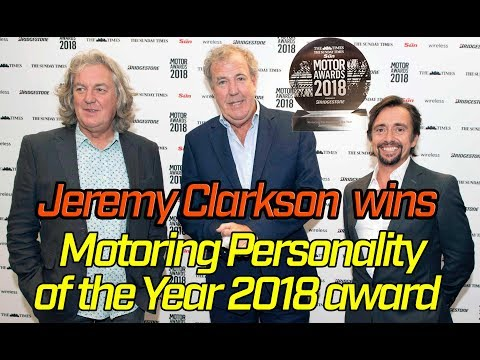 Jeremy Clarkson Wins Motoring Personality of the Year Award