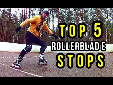TOP 5 STOPS on Inline Skates - Beginner to Beast