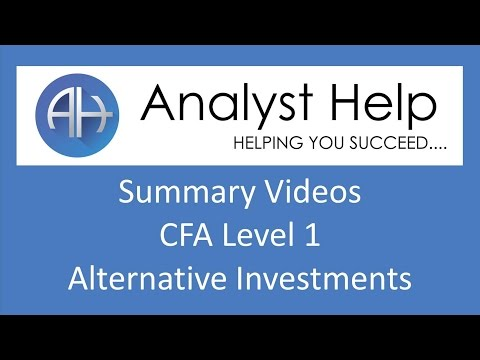 CFA Level 1 Alternative Investments - Detailed Summary 2017 - R60