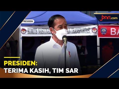 Ucapan Terima Kasih Jokowi untuk Tim SAR di Posko Darurat Evakuasi SJ182