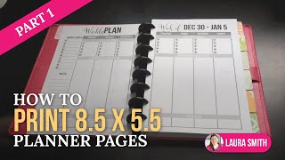 How to Print 8.5 by 5.5 Planner Pages Part 1 Thumbnail