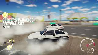 Takumi Fugiwara Does A Long Burnout For Fans (Forza Horizon 3)
