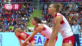 ไทย vs ตุรกี   วอลเลย์บอลหญิง เวิลด์กรังด์ปรีซ์ 2017 [22 ก.ค. 2560] #WGP2017
