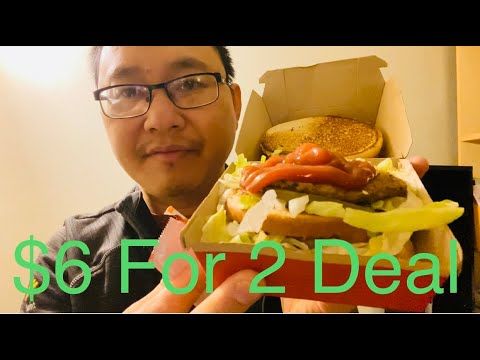 TRYING OUT $6 FOR 2 MIX/MATCH (BIG MAC & QUARTER POUNDER CHEESE) @ MCDONALD'S