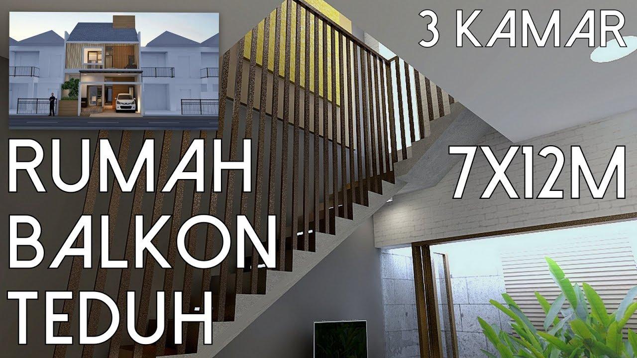 Rumah 3kamar Balkon Teduh Lahan 7x12m Kode 137 Youtube