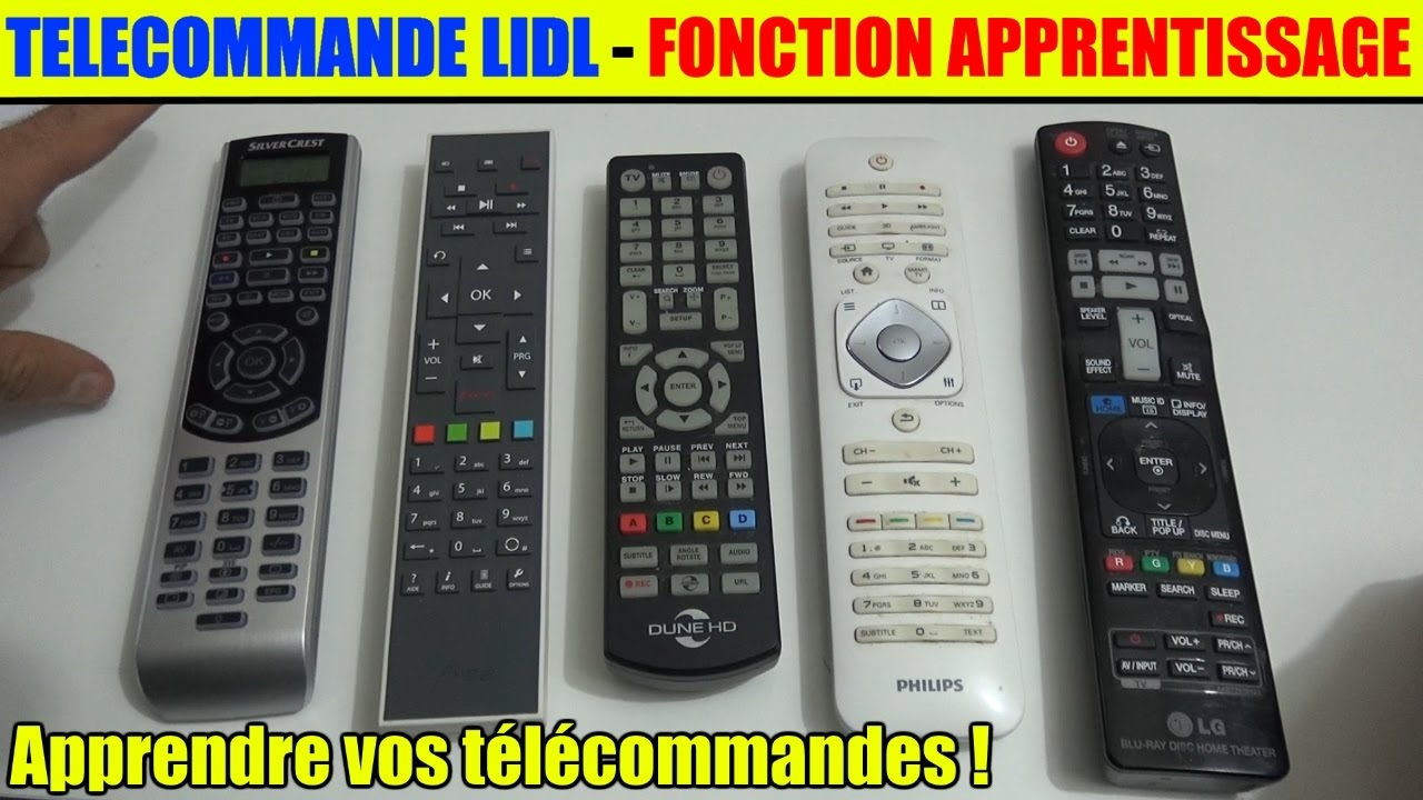 telecommande lidl silvercrest apprentissage de votre t l commandes freebox sfr orange livebox. Black Bedroom Furniture Sets. Home Design Ideas
