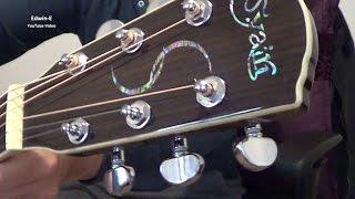 s yairi ye 40 acoustic electric guitar demo review with john pearse phosphor bronze strings