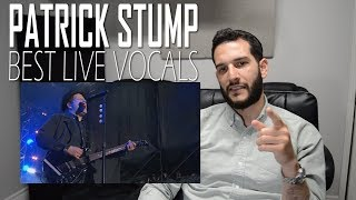 VOCAL COACH  reaction to PATRICK STUMP's BEST LIVE VOCALS