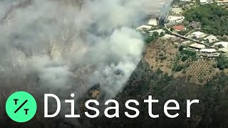 Pacific Palisades Wildfire Threatens Luxury Homes in California