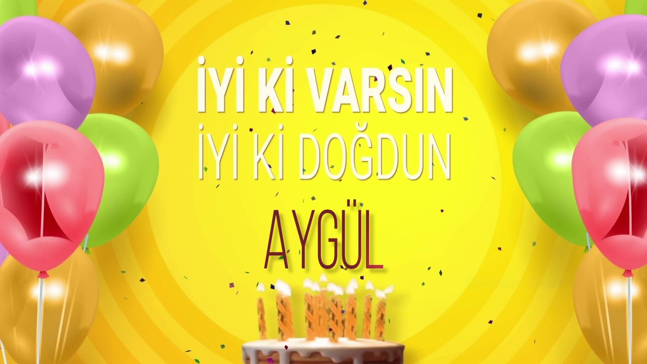 Ad günü təbriki - Aygül