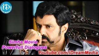 Simha Movie - Balakrishna Power Full Dialogues