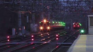 Metro-North Railroad HD 60 FPS: 12 Car Kawasaki M8 EMU Train on Train 1373 @ Pelham (1/19/17)