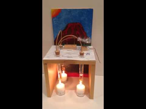 how to make geothermal energy working model