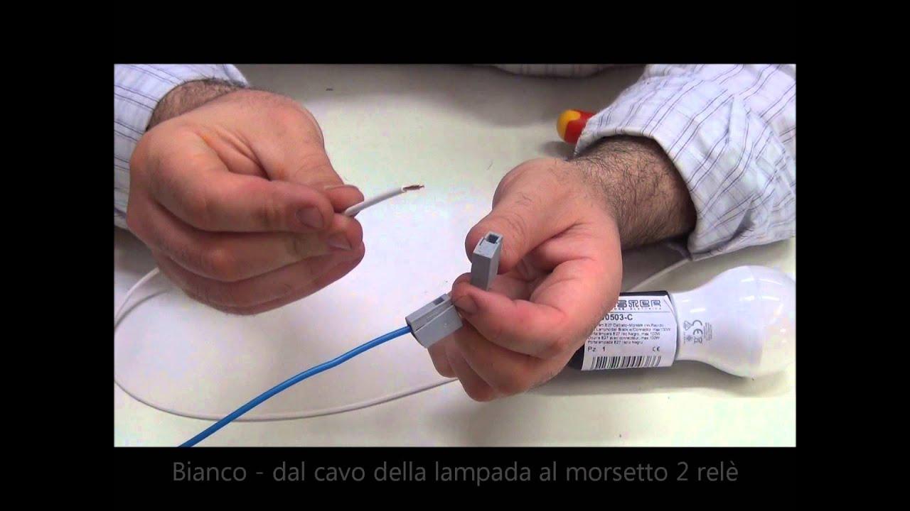 Schema Elettrico Per Accendere Una Lampada Con Due Interruttori : Come si monta un relè interruttore a cura di emmebistore