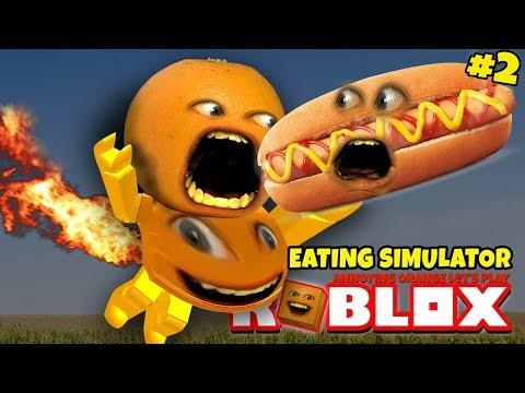 Roblox: Eating Simulator #2 🍔🍕  [Annoying Orange Plays]